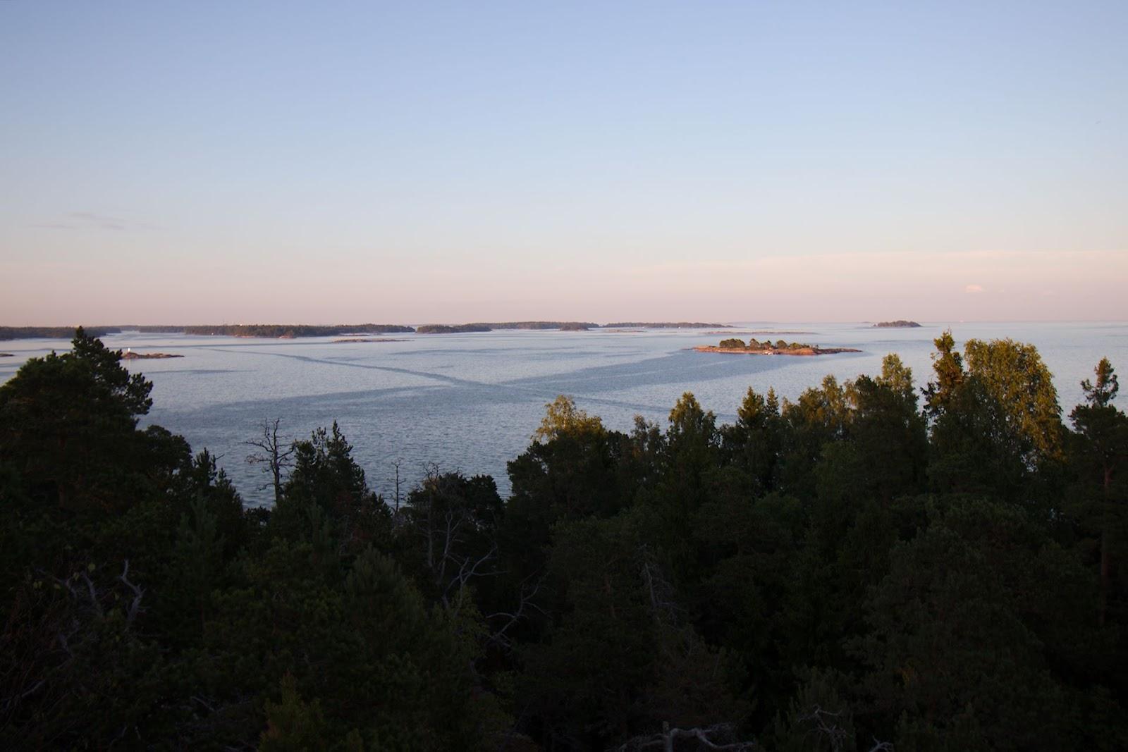 Näkymä Stora Herrön näkötornista merelle