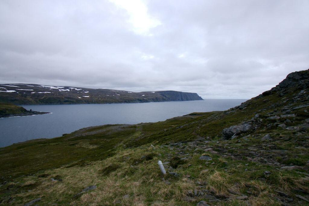 Nordkappin sarvi Kirkeportenilta nähtynä