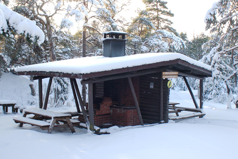 Merikotka-keittokatos talvella