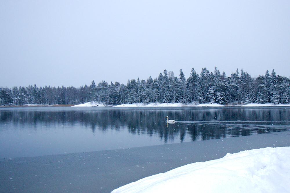 Väransbyn uimaranta talvella