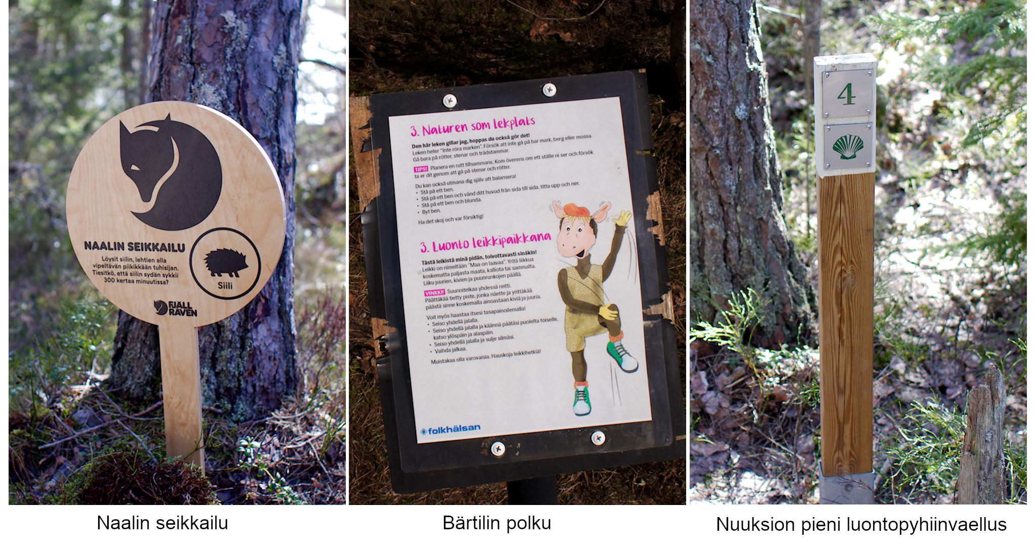 Naalin seikkailu, Bärtilin polku, Nuuksion pieni luontopyhiinvaellus