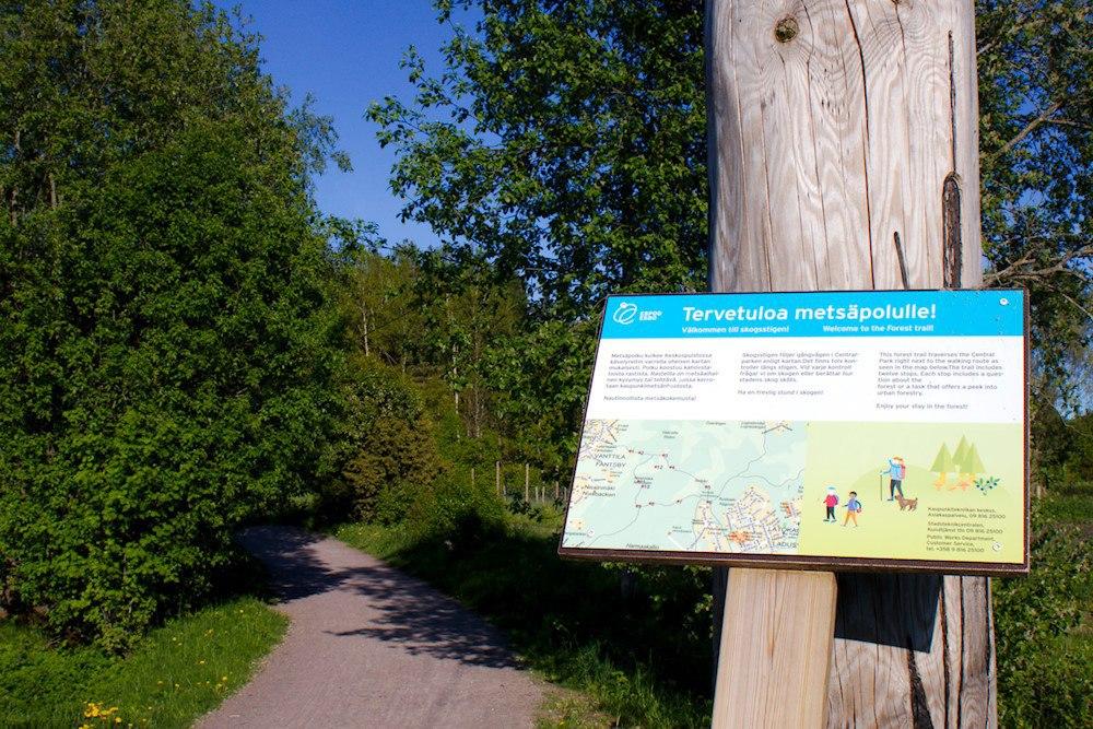 Espoon keskuspuiston metsäpolku – oodi lähiluonnolle